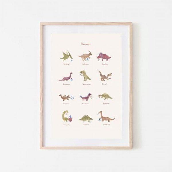 Plakat Dinozaury duży - Mushie