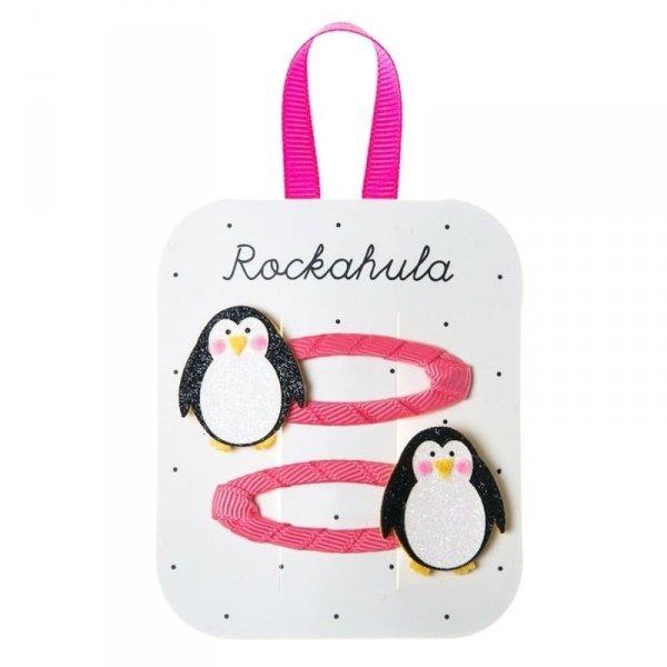 Rockahula Kids - spinki do włosów dla dziewczynki Penguin Glitter