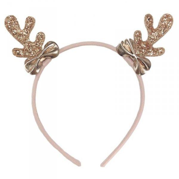 Rockahula Kids - opaska do włosów Rose Gold Reindeer Ears