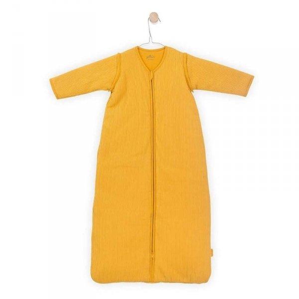Śpiworek niemowlęcy całoroczny - Jollein 4 pory roku z odpinanymi rękawami Rib OCHER 110 cm