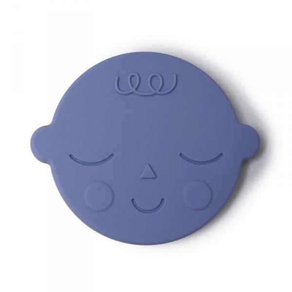 Gryzak silikonowy dla dziecka TWARZ - Blueberry - Mushie