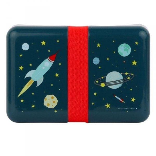 Śniadaniówka   lunchbox -  Kosmos z naklejkami