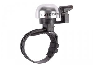 Dzwonek rowerowy ACCENT Ding srebrny reg.obejma