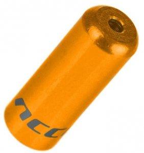 Końcówka pancerza przerzutki ACCENT 4mm alum. złota 1szt