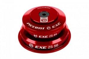 Stery 1 1/8-1,5 ACCENT HSI-EXE pół-zintegrowane taper 44/56 łożyska maszynowe, czerwone