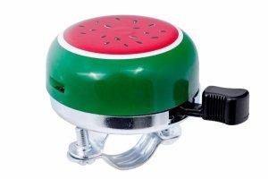 Dzwonek rowerowy stalowy 55mm ARBUZ - zielono-czerwony /JH-214W/