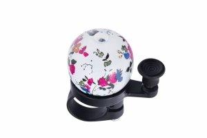 Dzwonek stal/plast JH-808 38mm biały w kwiaty