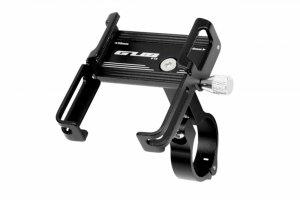Uchwyt rowerowy na kierownicę telefon smartfon GUB ALU czarny P10 (25,4-31,8)