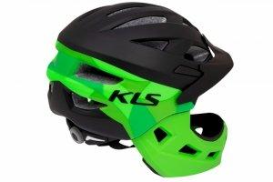 Kask dziecięcy KELLYS SPROUT XS 47-52cm full-face czarno-zielony