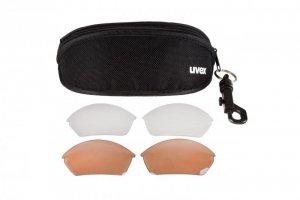 Okulary UVEX BLAZE II 2.0 3 pary soczewek - czarno-czerwone