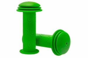 Chwyty kierownicy dzieciece 95mm z kołnierzem, zielone