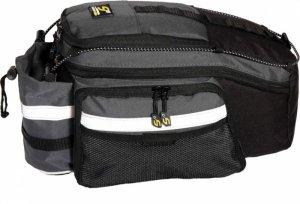 Sakwa na bagażnik Sport Arsenal 560 20L rozkładne boki, czarno-szara