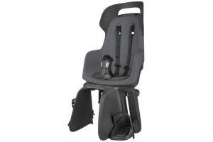 Fotelik dla dziecka BOBIKE GO na bagażnik, Macaron Grey/czarno-grafit