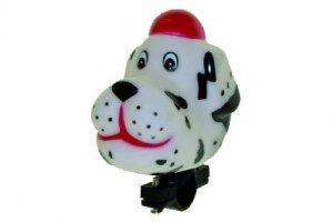 Trąbka - zabawka PIES biały