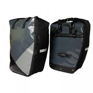 Sakwa na bagażnik MERIDA WATERPROOF PANNIER II 2x30L szare