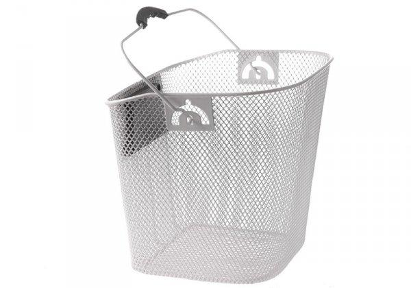 Koszyk na kierownicę zapinany+ klip siatka biały