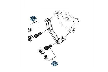 Adapter do hamulca tarczowego SHIMANO PM/IS 180mm, tył