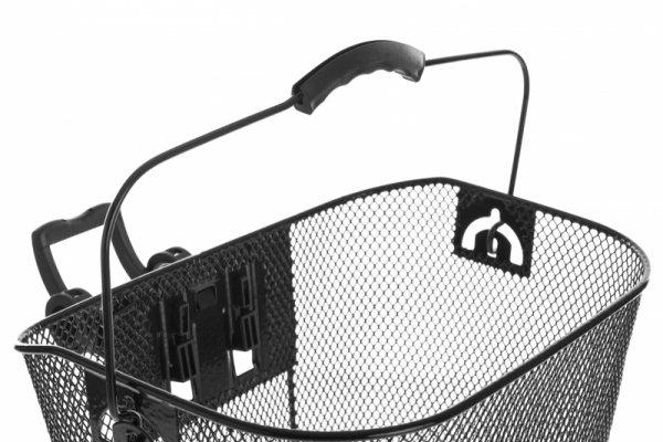 Koszyk na kierownicę siatka, HT-207C KLIP, czarny