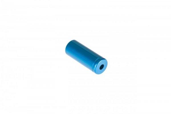 Końcówka pancerza hamulca alum. CNC fi 5  niebieska