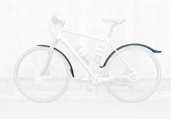Błotniki rowerowe 28'' VELO 55 Cross zestaw czarne