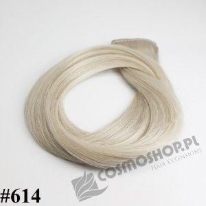 KUCYK CLIP IN- JASNY POPIELATY BLOND #614, 30 cm