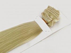 Syntetyczny zestaw Clip-in, długość 45 cm kolor #88 -bardzo jasny lodowy blond