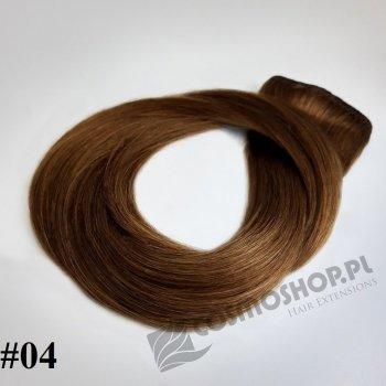 Pasmo Clip-in, długość 55 cm kolor #04 - ŚREDNI BRĄZ