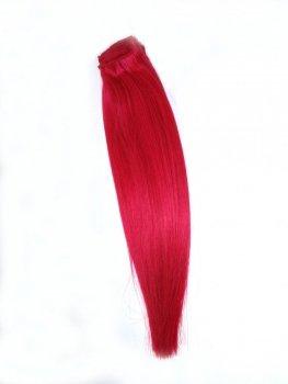 Pasmo Clip-in, 40 cm, kolor Hot Pink, 8 g