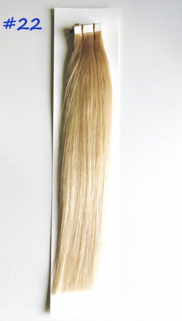 Zestaw Tape on, długość 40 cm, kolor #22-Średni blond