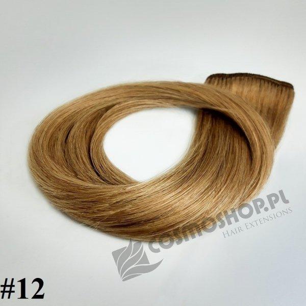 Zestaw Clip-in, długość 50 cm kolor #12 - NATURALNY CIEMNY BLOND