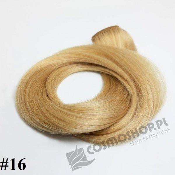 Zestaw Clip-in, długość 40 cm kolor #16 - ZŁOCISTY BLOND, 130g