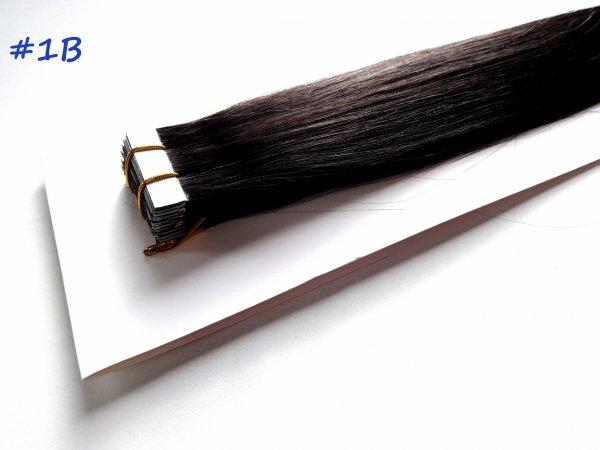 Zestaw Tape on, długość 40 cm, kolor #1B-Bardzo ciemny brąz