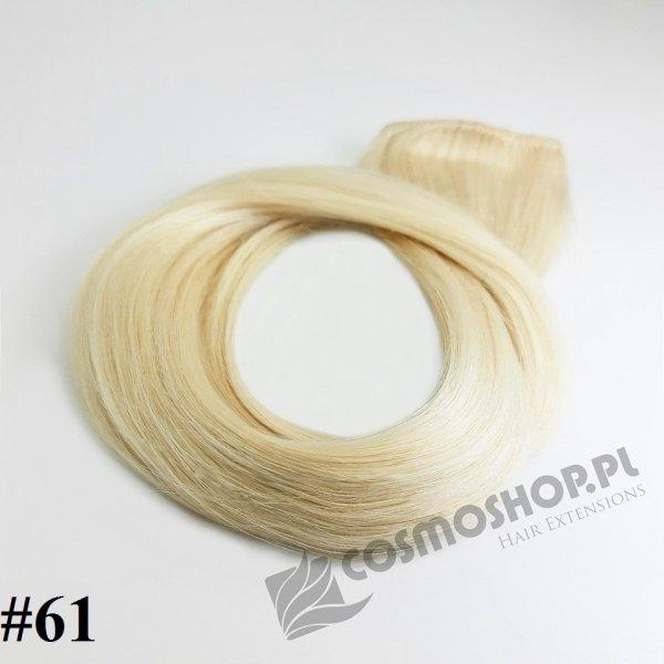 Zestaw Clip-in, długość 45 cm kolor #61 - LODOWY BLOND