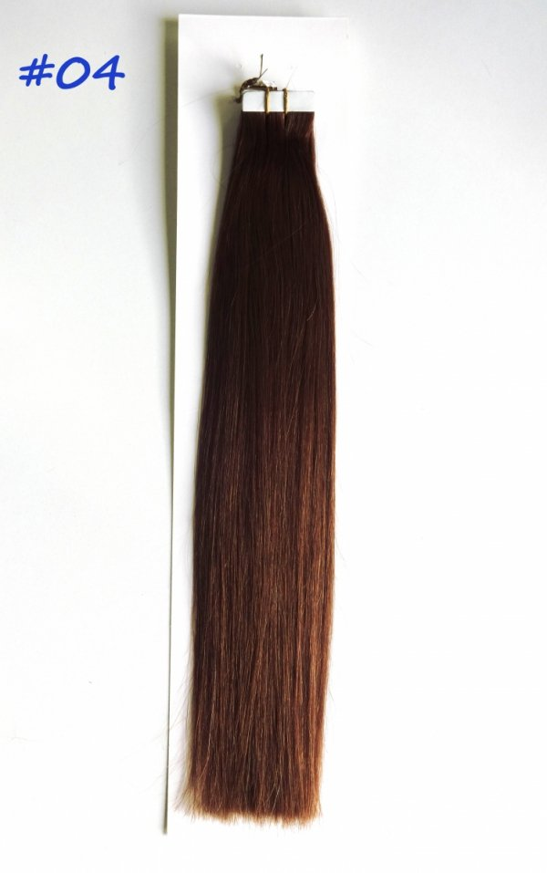 Zestaw Tape on, długość 40 cm, kolor #04- Średni brąz