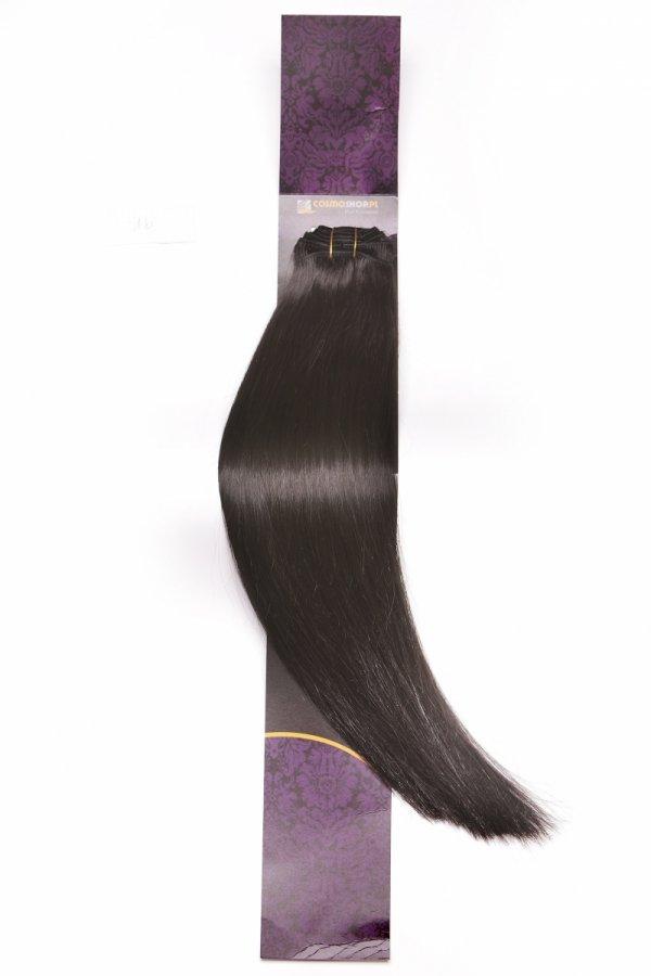 Zestaw Clip-in, długość 55 cm kolor #1B -BARDZO CIEMNY BRĄZ 220g