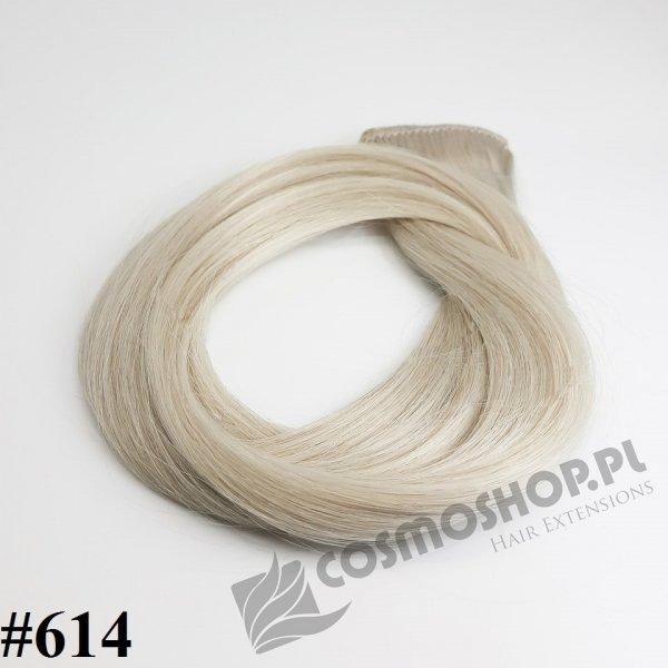 Zestaw Clip-in, długość 40 cm kolor #614 -BARDZO JASNY POPIELATY BLOND