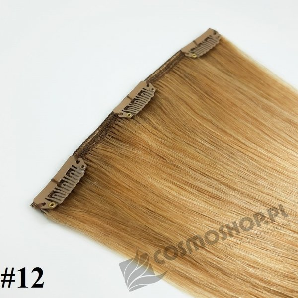 Pasmo Clip-in, długość 55 cm kolor #12 -NATURALNY CIEMNY BLOND