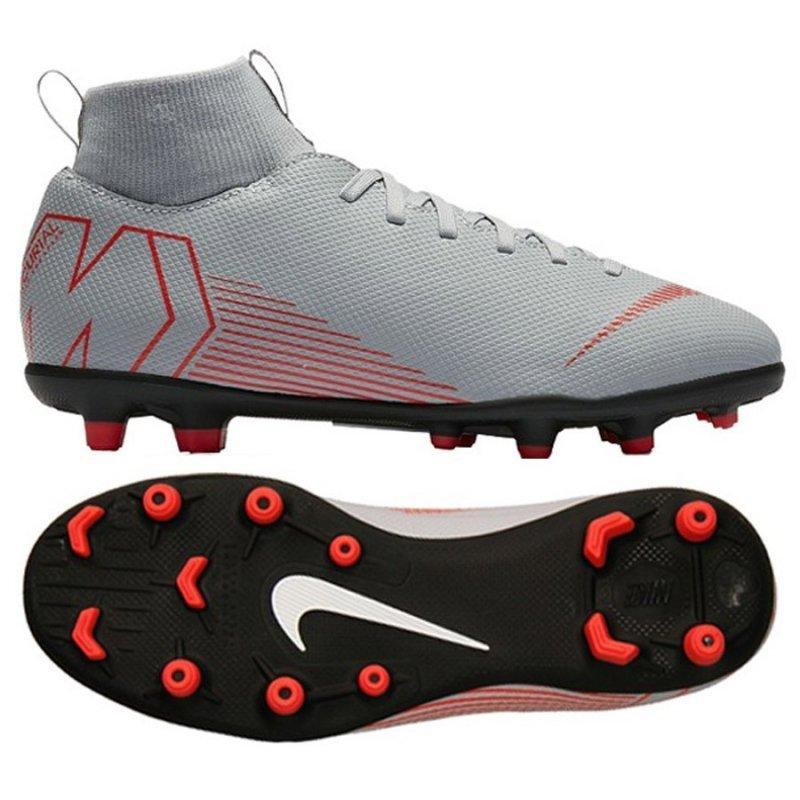 Buty Nike JR Mercurial Superfly 6 Club MG AH7339 060 szary 36