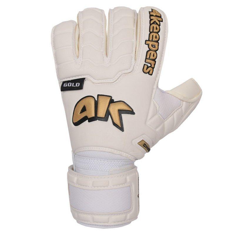 Rękawice 4keepers Champ  Gold IV RF + płyn czyszczący biały 8