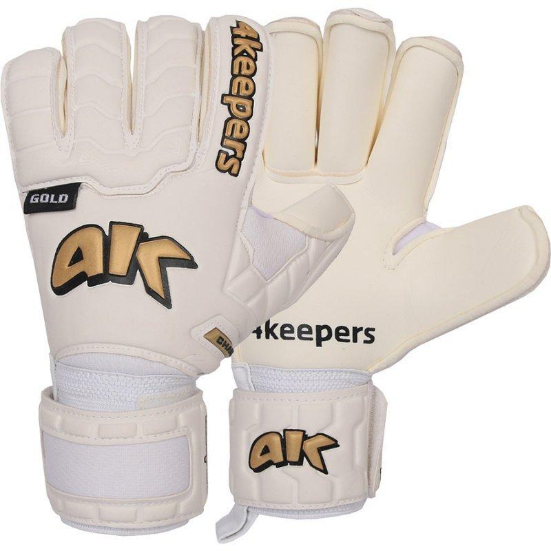 Rękawice 4keepers Champ  Gold IV RF + płyn czyszczący biały 10,5