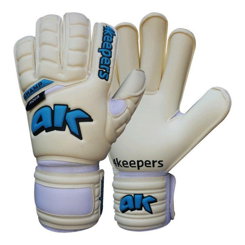 Rękawice 4keepers Champ Aqua RF IV  + płyn czyszczący S504665 biały 8,5