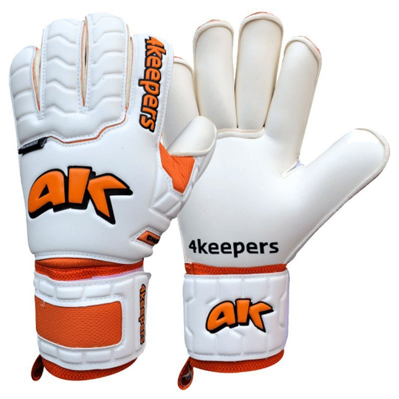 Rękawice 4keepers Champ Training IV Roll Finger Junior + płyn  S622453 biały 7
