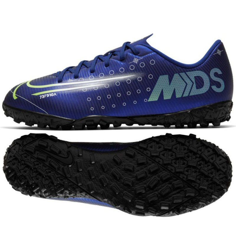 Buty Nike JR Mercurial Vapor 13 Academy MDS TF CJ1178 401 niebieski 36