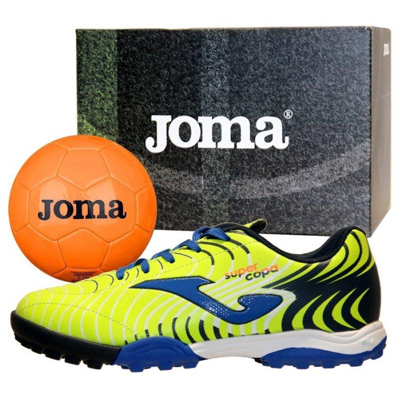 Buty Joma Super Copa JR 2011 TF SCJS.2011.TF + Piłka Gratis żółty 31