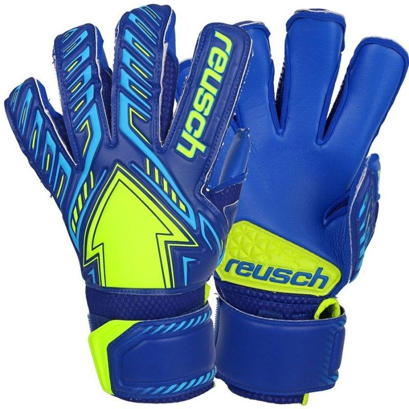 Rękawice bramkarskie Reusch Arrow S1 50 70 204 4949 niebieski 8,5