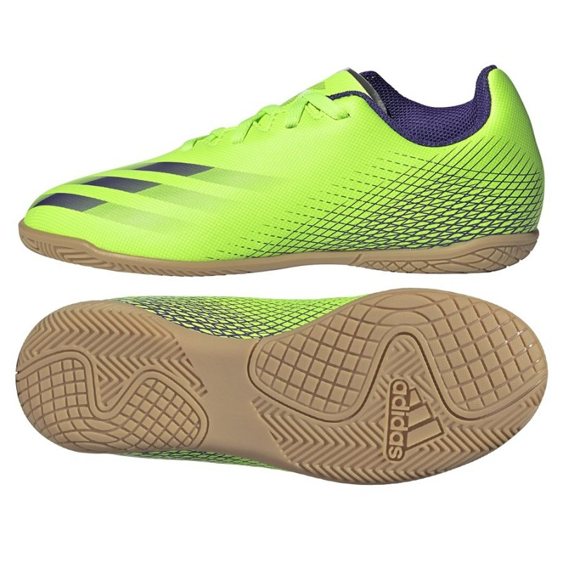 Buty adidas X Ghosted.4 IN J EG8233 zielony 36