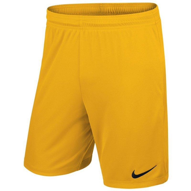 Spodenki Nike Park II Knit Junior 725988 739 żółty S (128-137cm)