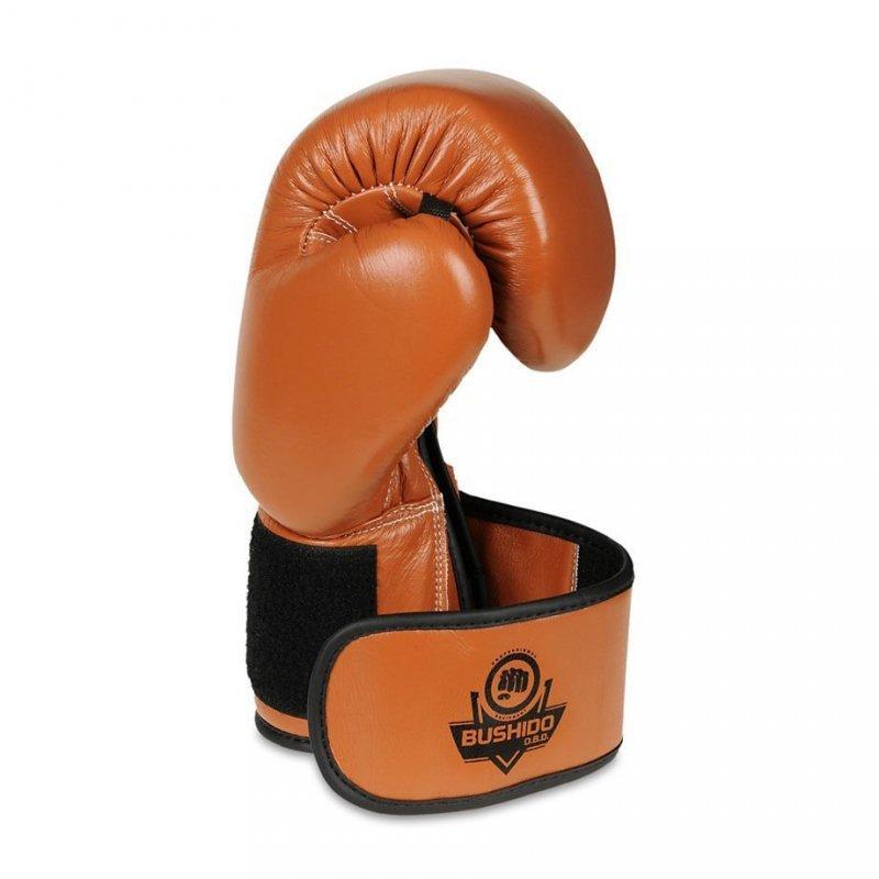 Rękawice bokserskie z brązowej  skóry naturalnej firmy DBX BUSHIDO 14 OZ