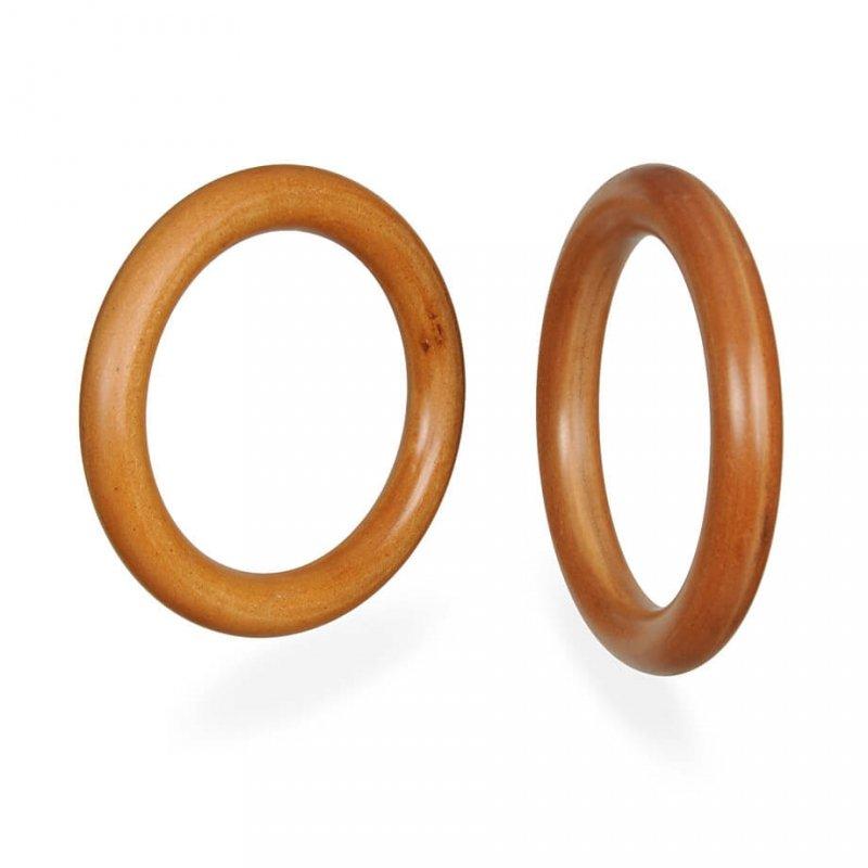 Polerowane drewniane kółka gimnastyczne ze stalowym rdzeniem
