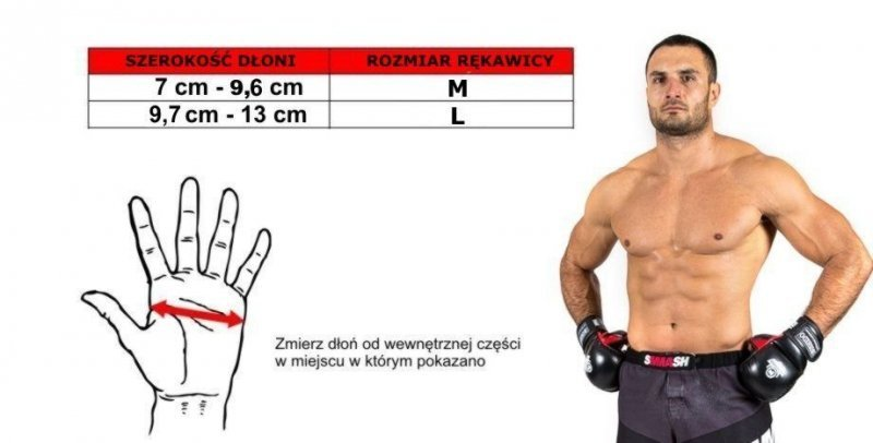 Rękawice do treningu MMA, MMA-TECH  - ARM-2014a -M